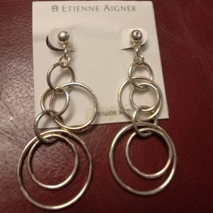 Etienne Aigner women's genuine semi-precious earri